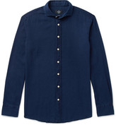 Hackett Kent Slim-Fit Cutaway-Collar Washed-Cotton Shirt