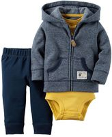 Carter's Baby Boy Striped Cardigan, Bodysuit & Pants Set