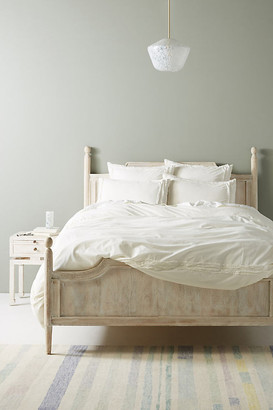 Anthropologie Joey Washed Percale Duvet Cover By in White Size TW TOP/BED