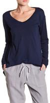 Allen Allen Long Sleeve Hi-Lo Shirt