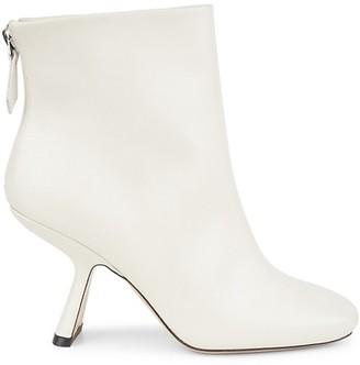 Nicholas Kirkwood Alba Square-Toe Leather Ankle Boots