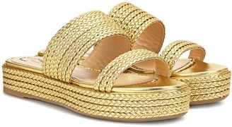 Charlotte Olympia Hackney leather sandals