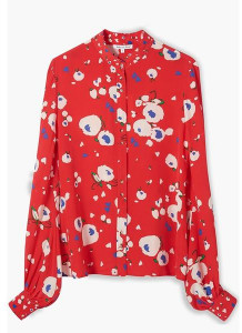 Lily & Lionel Loveheart Floral Maddox Shirt - S - Red