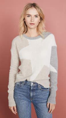 White + Warren Exploded Star Cashmere Sweater
