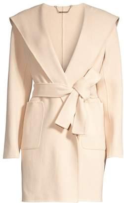 Elie Tahari Shea Shawl-Collar Wool Nylon Coat