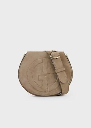 Giorgio Armani Suede Belt Bag With Raised Ga Logo