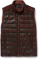 Tod's - Quilted Waxed-leather Gilet