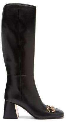 Gucci Horsebit Leather Knee-high Boots - Black