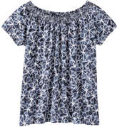 Joe Fresh Women's Smocked Tee, Dark Blue (Size M)