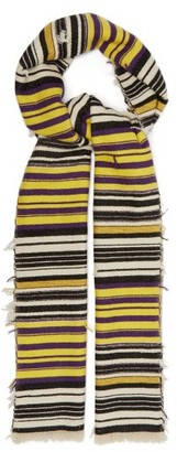 Isabel Marant Lurra Striped Scarf - Yellow