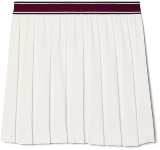 Tory Burch Tech Twill Pleated Tennis Skirt