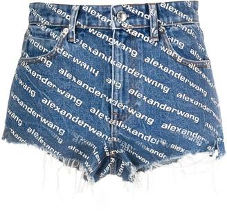 Alexander Wang monogram denim shorts