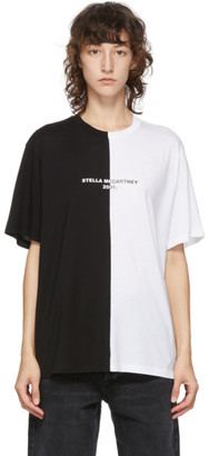 Stella McCartney Black and White Panelled 2001 T-Shirt