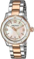 Nautica Women's 'NWS 01' Quartz Stainless Steel Casual Watch, Color:-Toned (Model: NAD19544L)