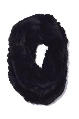 Yves Salomon Rex Rabbit Snood in Black