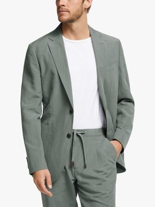 John Lewis & Partners Zegna Silk Linen Tailored Suit Jacket, Green