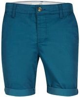 Topman Mid Blue Stretch Skinny Chino Shorts