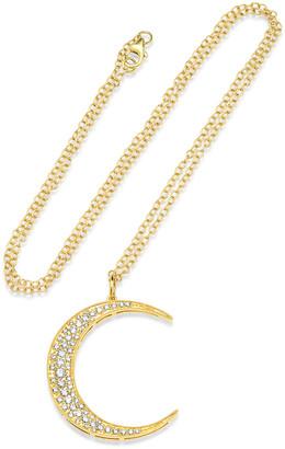 Andrea Fohrman 18k Gold Diamond Crescent Moon Necklace