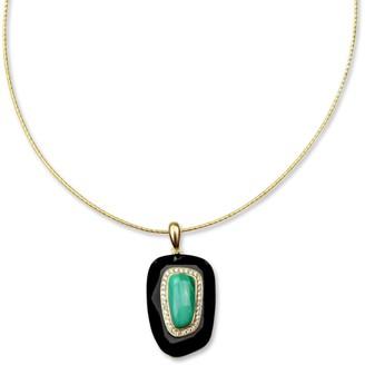 Bellus Domina Sterling Silver Malachite Necklace