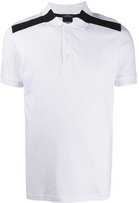 HUGO BOSS Paule shoulder logo stripe polo shirt