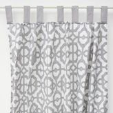 Caden Lane MOD Lattice White & Grey Curtains