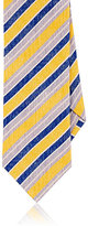 DolcePunta DOLCEPUNTA MEN'S STRIPED SATIN NECKTIE-YELLOW
