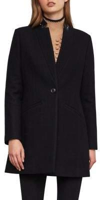BCBGMAXAZRIA Button-Front Wool-Blend Coat