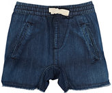 Munster CUT-OFF COTTON DENIM SHORTS-BLUE SIZE 2