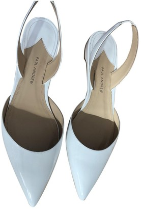 Paul Andrew White Patent leather Sandals