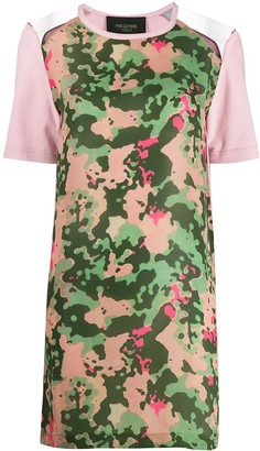 Mr & Mrs Italy camo print T-shirt dress