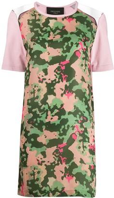 Mr & Mrs Italy camo print T-shirt dress