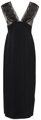 Victoria Beckham Lace-paneled Satin Midi Dress