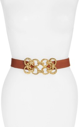 Raina Leather Stretch Belt