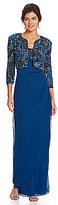 Alex Evenings Jacquard Knit Jacket Dress