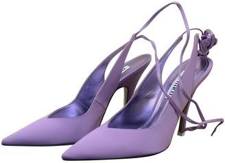 ATTICO Purple Cloth Heels