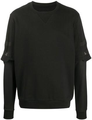 Les Hommes Overlay Sleeve Sweatshirt