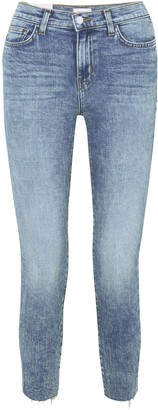 L'Agence Faded High-rise Slim-leg Jeans