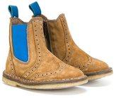 Pépé brogue detailing boots - kids - Calf Suede/Leather/rubber - 34