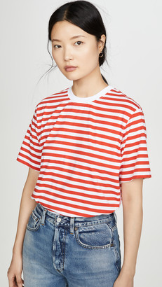 Victoria Victoria Beckham Striped Logo Tape T-Shirt