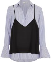 River Island Womens Blue stripe shirt with cami top
