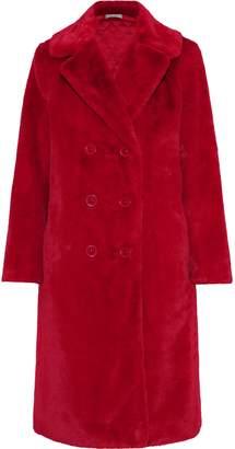 Alice + Olivia Montana Double-breasted Faux Fur Coat