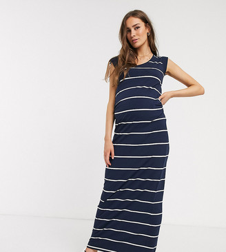 Mama Licious Mamalicious stripe maxi dress