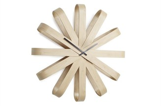 Umbra Ribbonwood Wall Clock 20.25in Natural