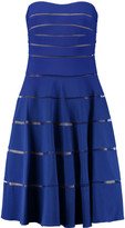 Mikael Aghal Bandeau mesh-paneled ribbed stretch-jersey dress