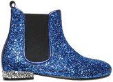 Simonetta Maxi Glittered Leather Ankle Boots