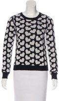 Alice + Olivia Wool & Cashmere Heart Print Sweater
