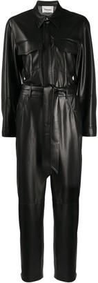Nanushka Ashton tie-waist boiler suit
