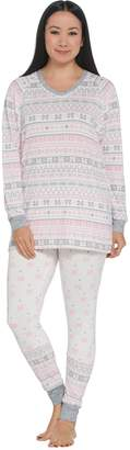 Cuddl Duds Petite Apres Ski Fairisle Pajama Set