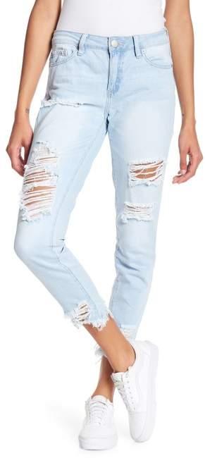 YMI Jeanswear Outerwear Dream Mid-Rise Hem Destruction Denim Jeans