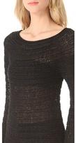 Donna Karan Long Sleeve Wide Neck Sweater